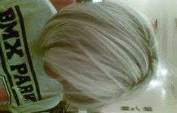 صورة صبغ الشعر باللون الاشقر الثلجي