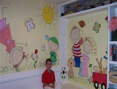 صوره تزيين جدران الروضة , تزين الفصول للطفل