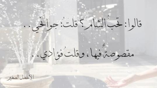 صوره شعر عن الشام