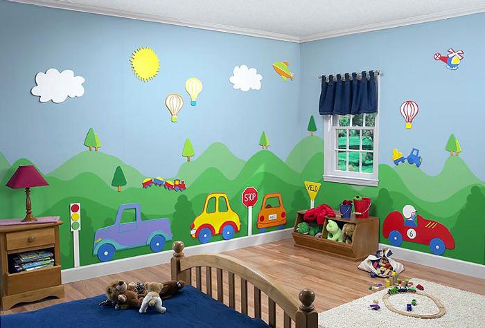 صوره صبغ غرف اطفال اولاد