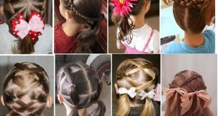 تسريحات شعر للبنات الصغار سهلة
