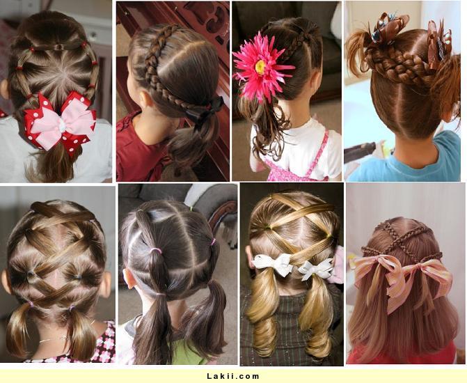 صوره تسريحات شعر للبنات الصغار سهلة