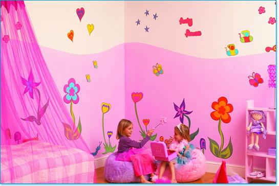 صوره ديكورات دهانات حوائط غرف اطفال