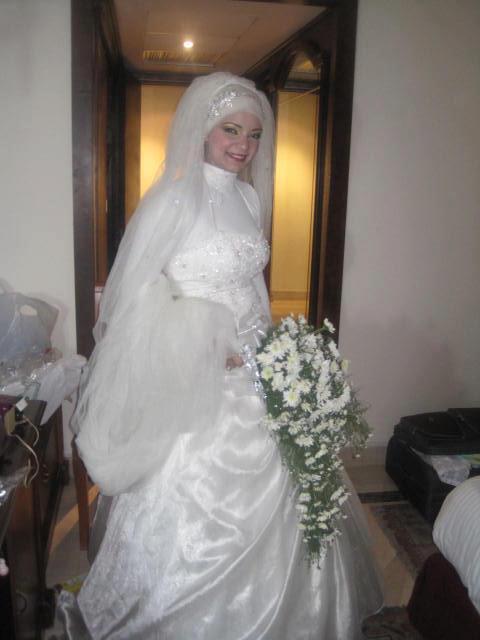 صوره عروس محجبة