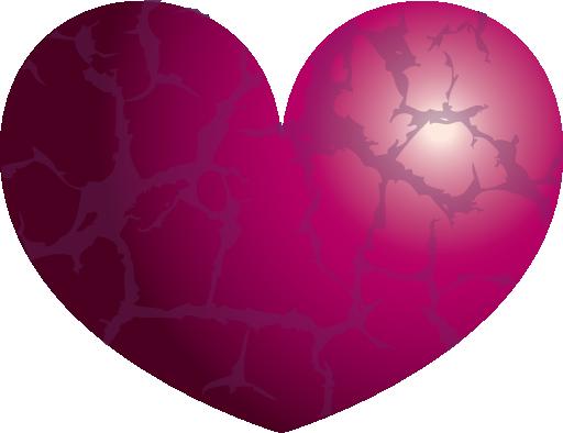 صورة القلب البنفسجي