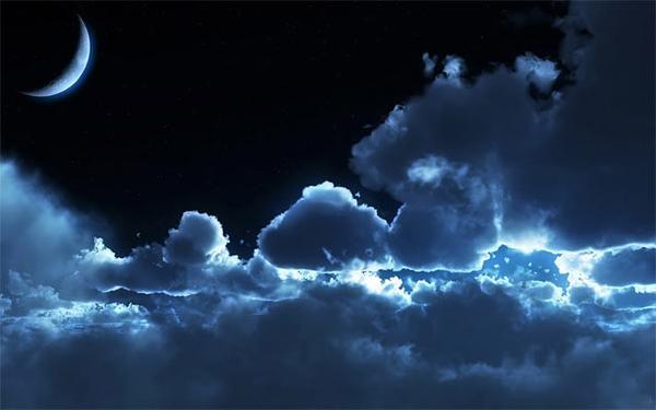 صور دعاء رؤية القمر كاملا