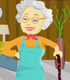 وصف الجدة العجوز
