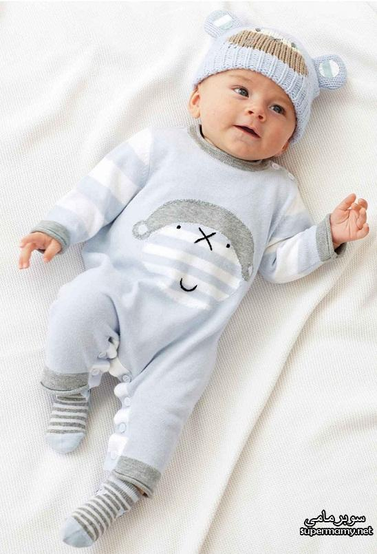صورة ملابس الاطفال حديثي الولادة في الشتاء
