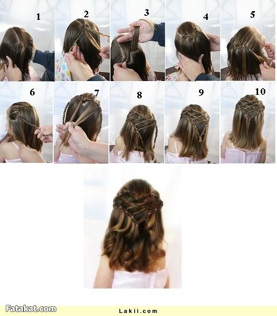 صوره تعليم تسريحات الشعر للاطفال