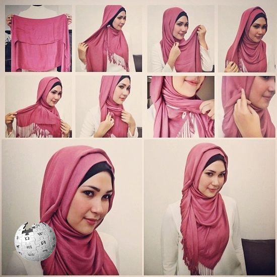 بالصور لفات حجاب تركية بالخطوات 7050 3