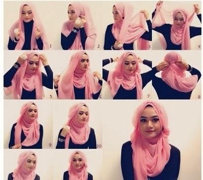 صوره لفات حجاب تركية بالخطوات