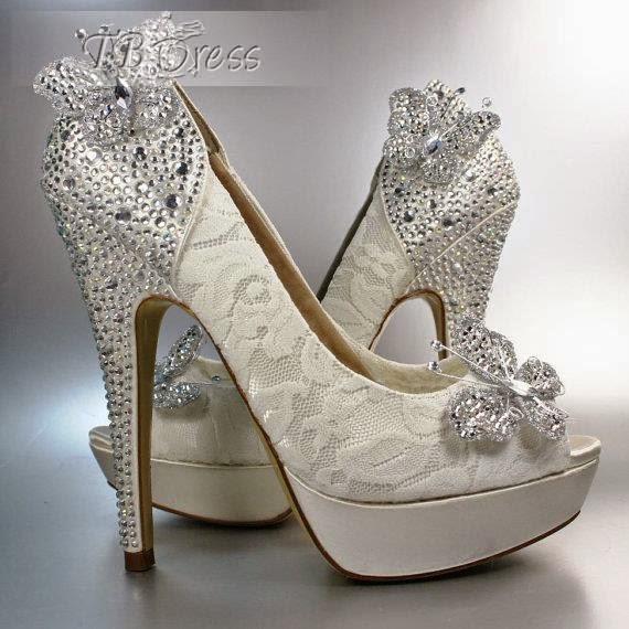 بالصور احذية الكعب العالي للعرائس 210 1