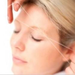 طريقة ازالة شعر الوجه بالخيط