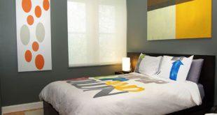 غرف نوم باللون الاسود والرمادي
