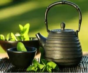 تحضير الشاي الاخضر