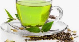 الشاي الاخضر والزنجبيل بعد الاكل
