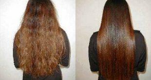 وصفة لتنعيم الشعر الخشن كالحرير