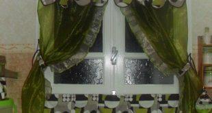 صور ستائر باب المطبخ