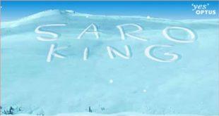 كتابة الاسم على الثلج