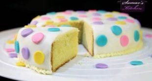 طريقة تزيين الكيك بعجينة السكر