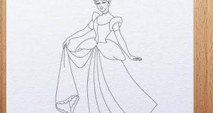 كيفية رسم سندريلا