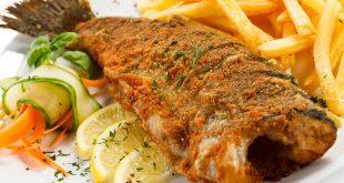 اطباق سمك مقلي