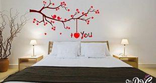صوره رسومات حائط لغرف النوم
