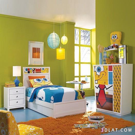 بالصور غرف نوم اولادي , غرفة مودرن باشيك الالوان العصريه 16435 3