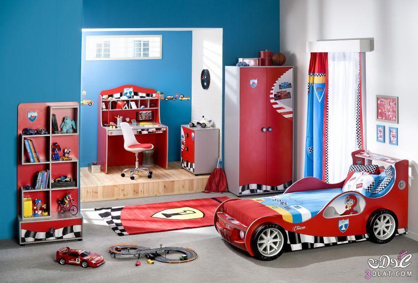 صوره غرف نوم اولادي , غرفة مودرن باشيك الالوان العصريه