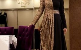 صوره فستان سواريه محجبات