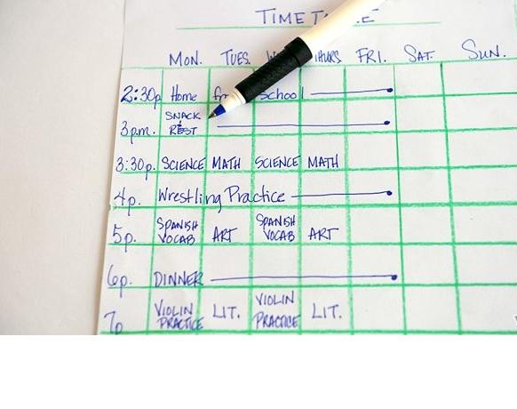 بالصور كيفية عمل جدول مذاكرة 17242