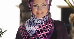 صورة لفات الحجاب حسب شكل الوجه