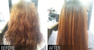 صورة اضرار كيراتين الشعر