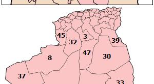 صوره خريطة الجزائر بالتفصيل