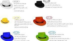 صور القبعات الست pdf , ستجدين هنا كل ما ترغبين معرفته عن قبعات التفكير الست