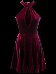 بالصور موديلات فساتين مخمل جديده , صيحه جديده فستان مخملى 13990 4