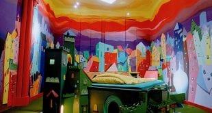 صوره غرف نوم عجيبة وغريبة , اغرب ديكورات غرف النوم