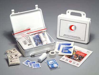 صورة شنطة الاسعافات الاولية , ادوات حقيبة الاسعافات الاولية