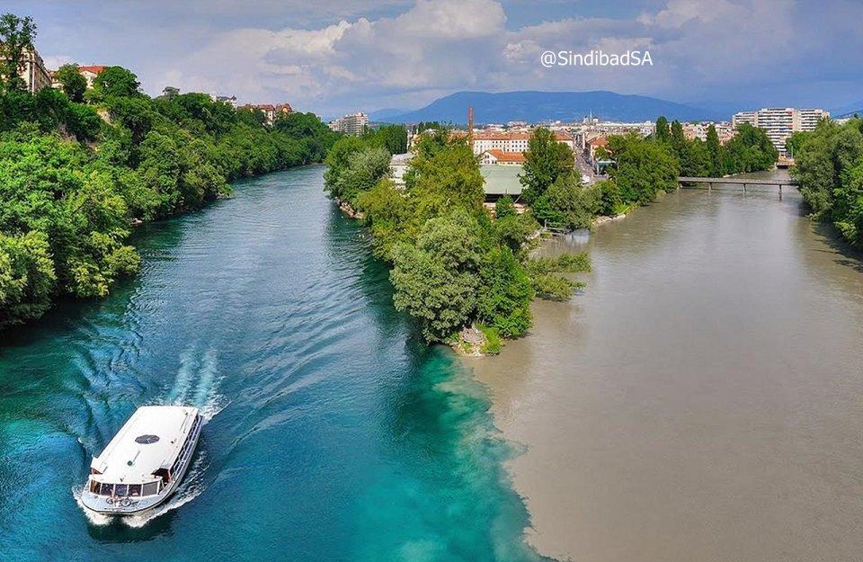 بالصور نهر الرون , الرون من اجمل الانهار بين سويسرا وفرنسا 74830