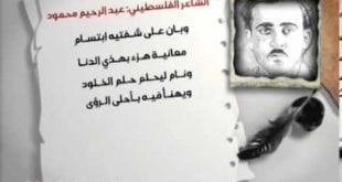 صوره ساحمل روحي على راحتي والقي بها في مهاوي الردى , قصيدة الشهيد للشاعر الفلسطينى عبد الرحيم محمود