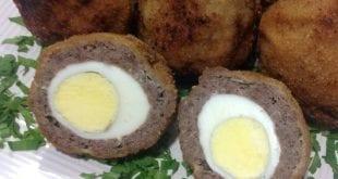 صورة البيض الاسكتلندي , خطوات عمل البيض الاسكتلندى بسهوله